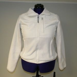 The North Face White Polartec Jacket XS